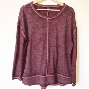 a.n.a Red Bat Wing Pullover Sweater S
